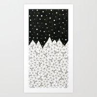 Diamond Peaks Art Print
