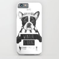 iPhone & iPod Case featuring Winter is boring by Balazs Solti