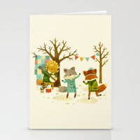 Critters: Spring Dancing Stationery Cards