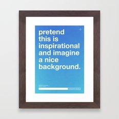 Blueprint For Success Framed Art Print
