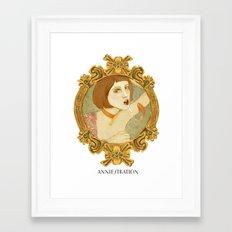 Smoked Fish (Anniestration Logo) Framed Art Print