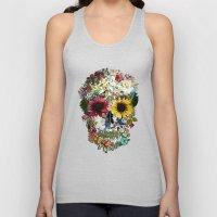 Skull flower Unisex Tank Top