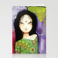 indian Stationery Cards featuring Indian by ByCabotine