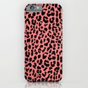 Neon Coral Leopard iPhone & iPod Case