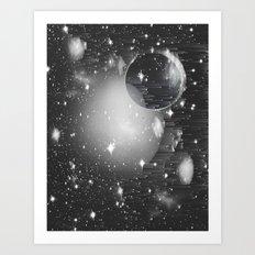 Space Pixels Art Print