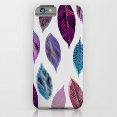 Pink Leaves 2 Slim Case iPhone 6s
