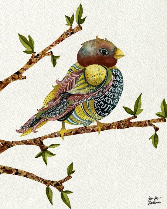 Positivity Bird Art Print