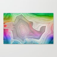 MINERAL RAINBOW Canvas Print