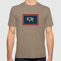 wyoming state flag united states of america country Mens Fitted Tee Tri-Coffee SMALL