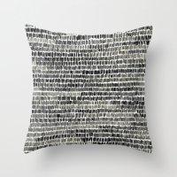 Watercolour Lines Throw Pillow