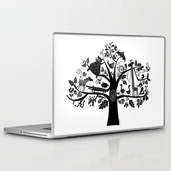 :) animals on tree Laptop & iPad Skin