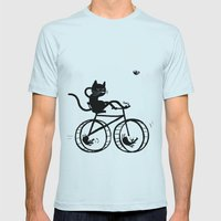 Slaved mouses Mens Fitted Tee Light Blue SMALL