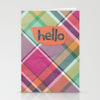 Hello in Orange Stationery Cards