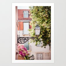Lisbon Lamp Art Print