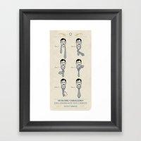Tie A Tie Framed Art Print