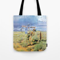 The Unknown Rider in Prairie Knight Tote Bag