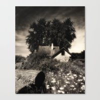 Moody Abandon Farm Canvas Print