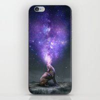 All Things Share the Same Breath (Coyote Galaxy) iPhone & iPod Skin