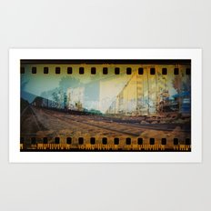 Train Grafitti  Art Print