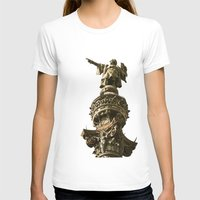 Christopher Columbus Womens Fitted Tee White SMALL