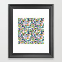 Abstraction Repeat Pink Framed Art Print