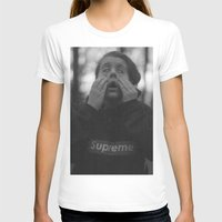 Supreme Womens Fitted Tee White SMALL