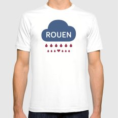 Rainy Rouen Mens Fitted Tee White SMALL
