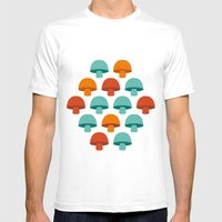 Don't Eat The Mushrooms! Mens Fitted Tee White SMALL