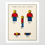 Lego Man Patent - Colour… Art Print