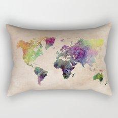 Watercolor world Map Rectangular Pillow