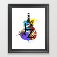 Jazz Guitar Framed Art Print