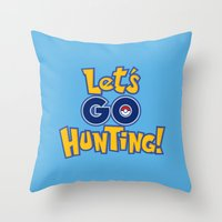 Let's Go Hunting! Throw Pillow