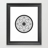 Compass Rose Framed Art Print