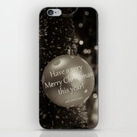 Christmas Greeting -- Ol… iPhone & iPod Skin