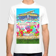 Living The Dream - Vinta… Mens Fitted Tee White SMALL