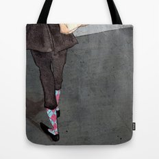 Argyle Socks by Kat Mills Tote Bag