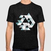 Graphic 202 Turquoise Mens Fitted Tee Tri-Black SMALL