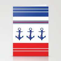 Stationery Card featuring Ahoy by Maria Tanygina