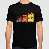 Buildings Mens Fitted Tee Black SMALL