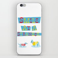 Smile At A Stranger iPhone & iPod Skin