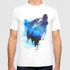 Alone as a wolf Mens Fitted Tee White SMALL