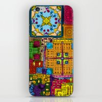 Colourful collage iPhone & iPod Skin
