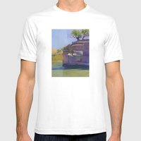 River Bend Mens Fitted Tee White SMALL