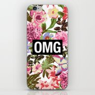 iPhone & iPod Skin featuring OMG by Text Guy