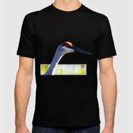 Sandhill Crane Mens Fitted Tee Black SMALL
