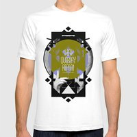 Think - Overlay - Repeat Mens Fitted Tee White SMALL