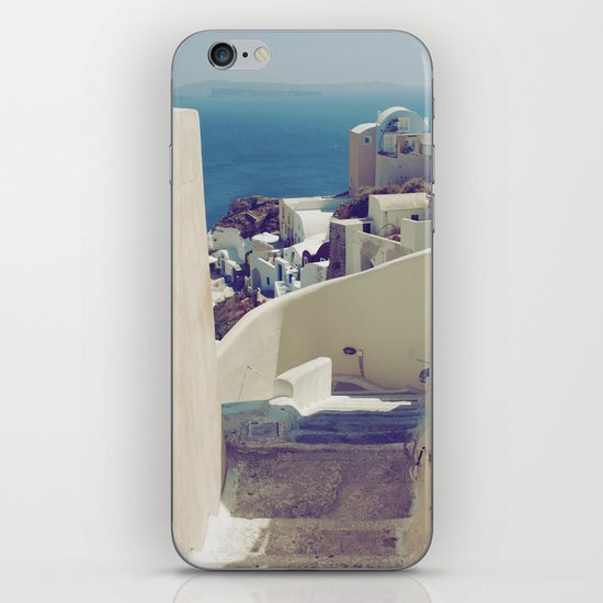 Santorini Stairs IV iPhone & iPod Skin