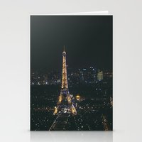 Eiffel Tower Light Show Stationery Cards