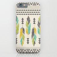 Painted Feathers-Cream iPhone 6 Slim Case