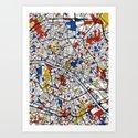 Paris Mondrian Art Print